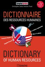 Dictionnaire des ressources humaines ; dictionary of human resources