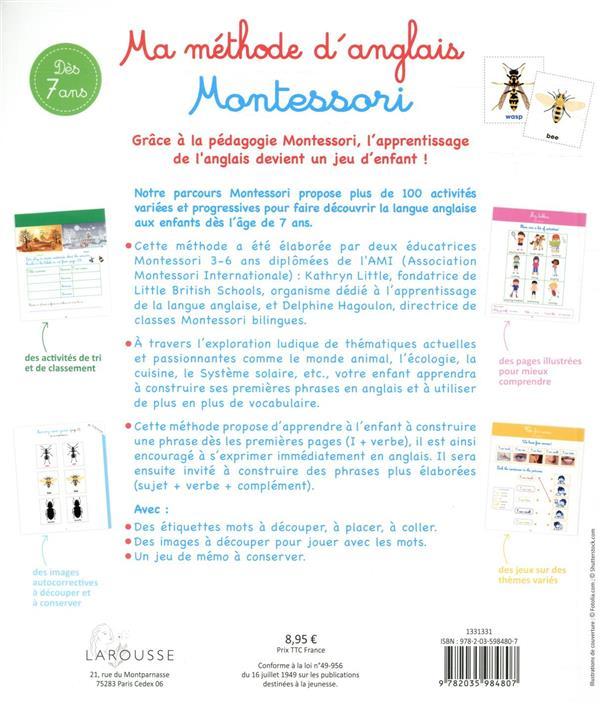 Ma méthode d'anglais Montessori
