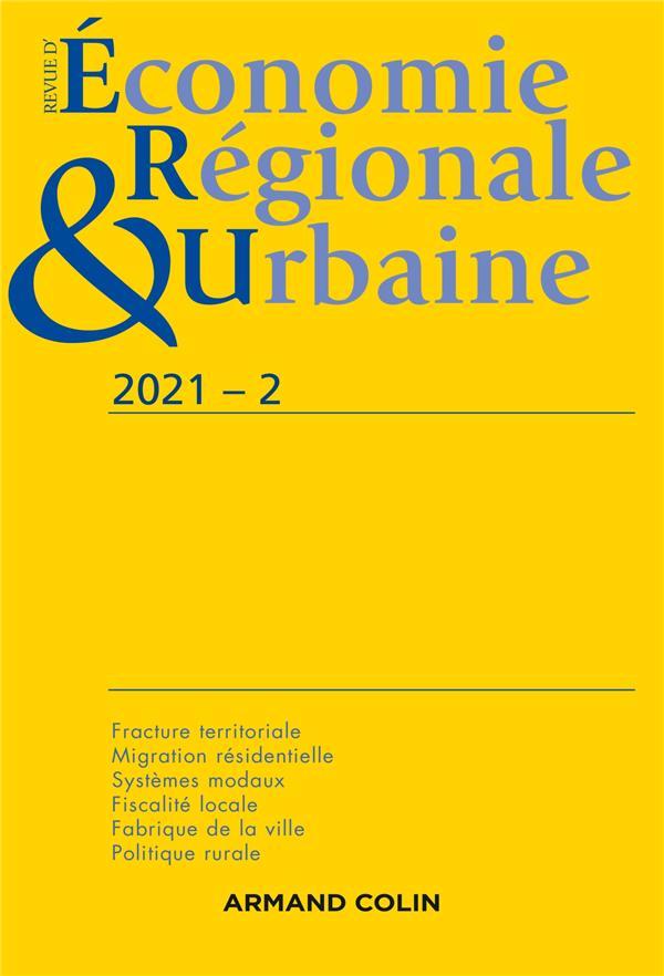 revue d'économie régionale et urbaine n.2021-2 ; varia