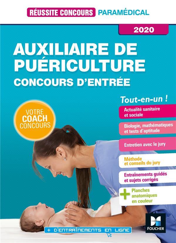 réussite concours ; auxiliaire de puériculture ; concours d'entrée ; tout-en-un (édition 2020)