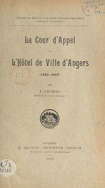 La Cour d'appel à l'hôtel de ville d'Angers (1800-1885)