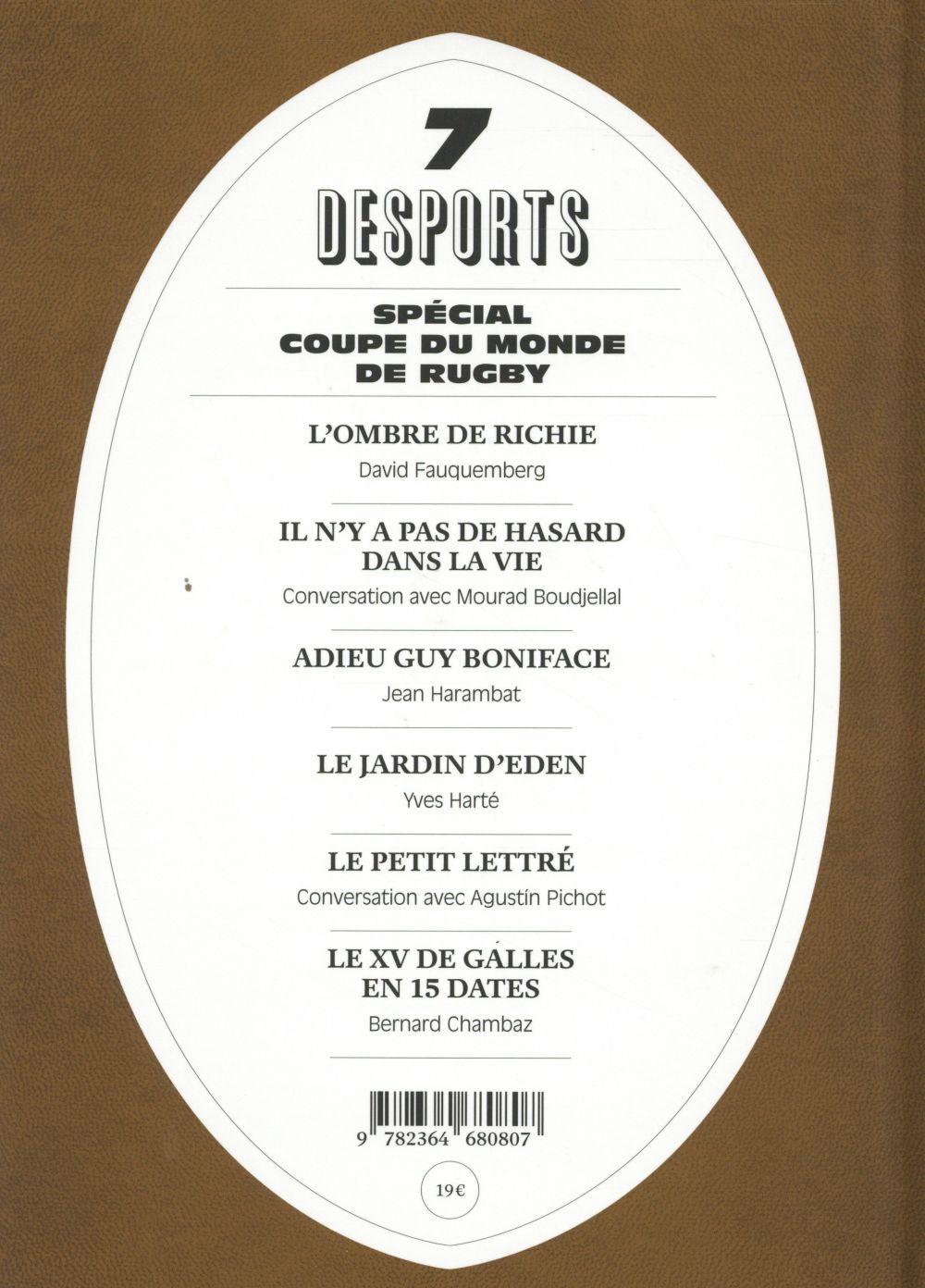 DESPORTS ; desports t.7 ; spécial coupe du monde de rugby