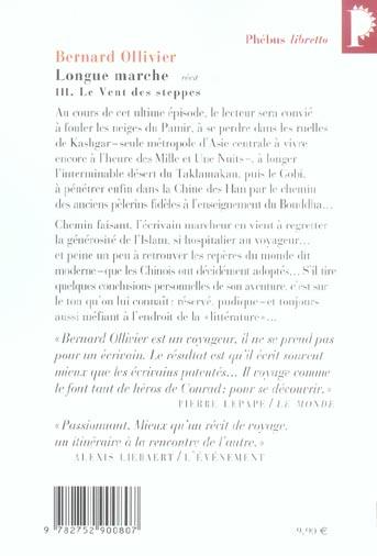 Longue Marche T 3 Le Vent Des Steppes Bernard Ollivier Libretto Poche Librairies Autrement