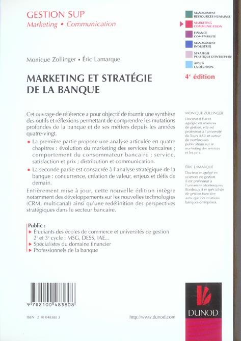 Marketing et strategie de la banque (2e édition)