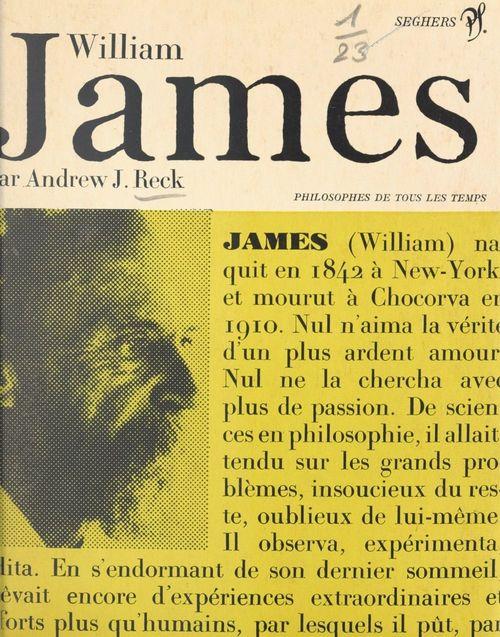 William James et l'attitude pragmatiste