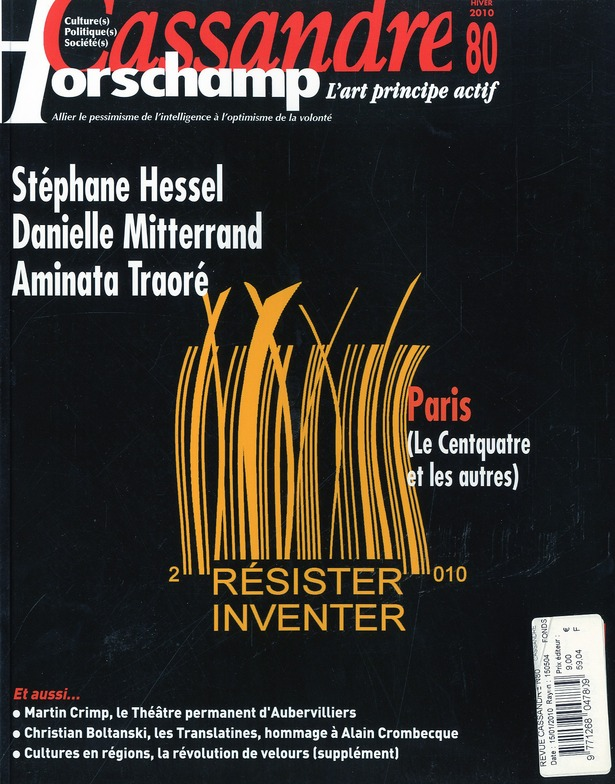 Cassandre t.80; resister, inventer ; janvier