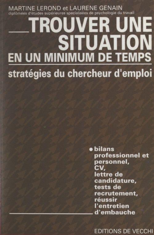 Stratégies du chercheur d'emploi