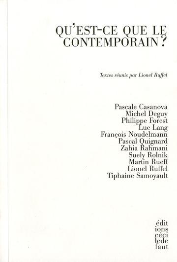 Qu'est-ce que le contemporain ?