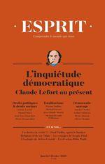 Vente Livre Numérique : Esprit janvier-février 2019 Inquiétudes démocratiques. Claude Lefort  - Pierre Rosanvallon - Michaël Foessel - Justine Lacroix