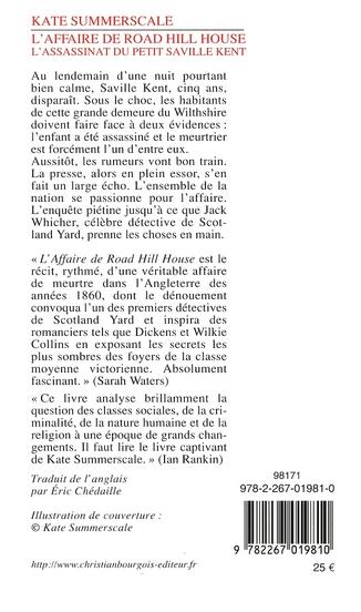 L'affaire de Road Hill House ; l'assassinat du petit Saville Kent
