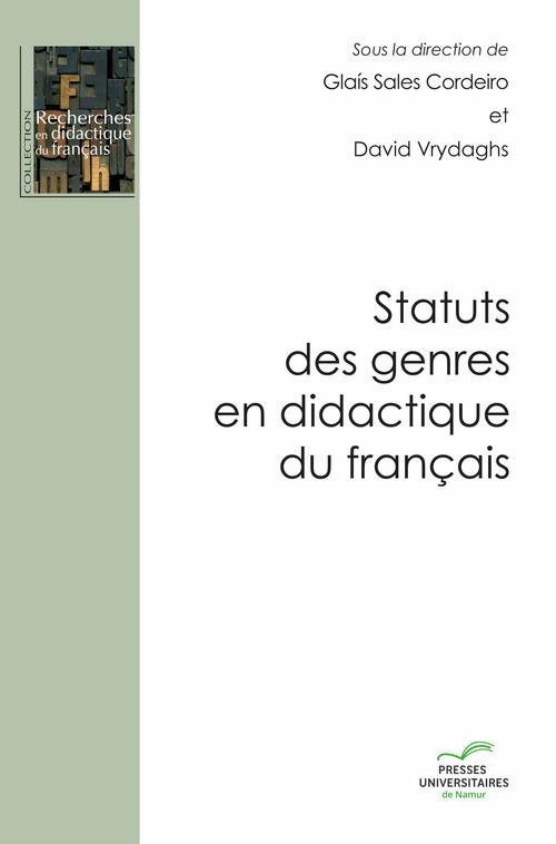 Statuts des genres en didactique du français