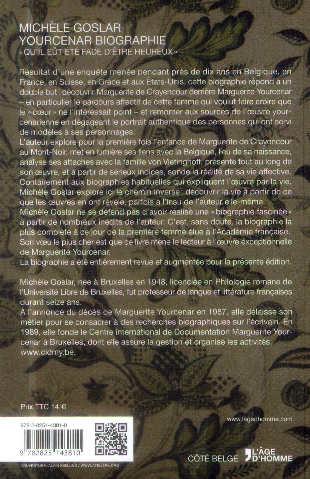 Yourcenar ; biographie