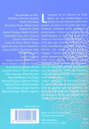 Doubles jeux ; fantaisies sur des mots mathématiques par 40 auteurs