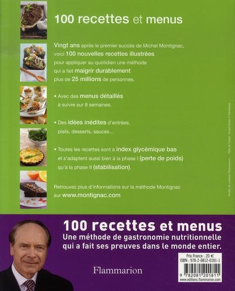 100 recettes et menus ; recettes inédites à index glycémique bas