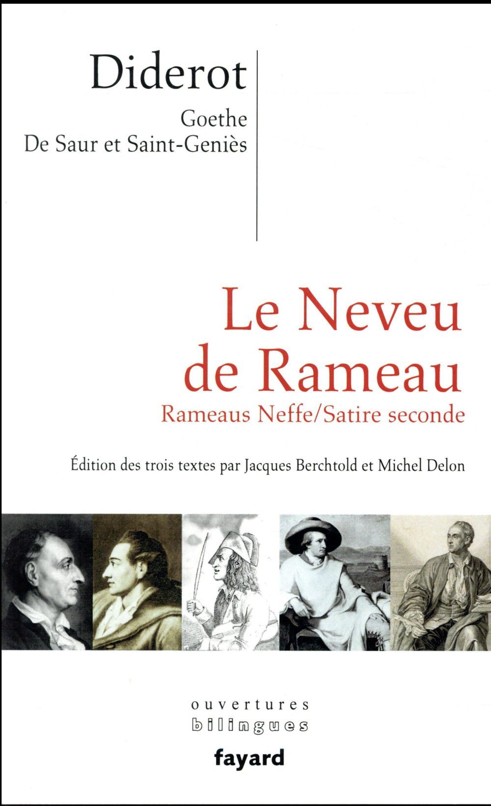 Le neveu de Rameau ; Rameaus Neffe ; satire seconde