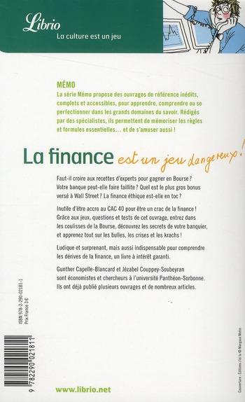 La finance est une jeu... dangereux !