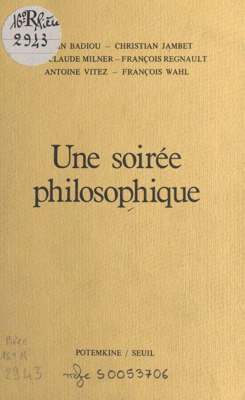 Une soirée philosophique