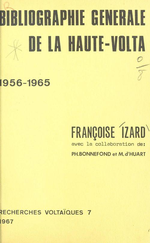 Bibliographie générale de la Haute-Volta