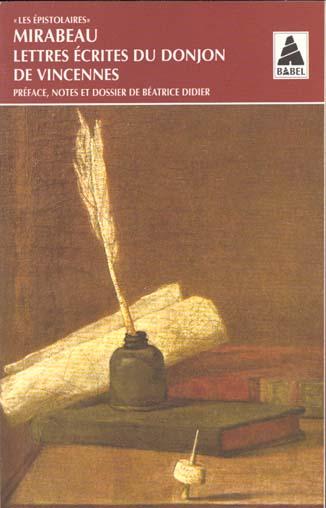 Lettres ecrites du donjon de vincennes - les epistolaires