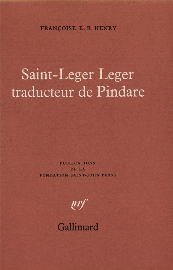 Saint-leger leger traducteur de pindare