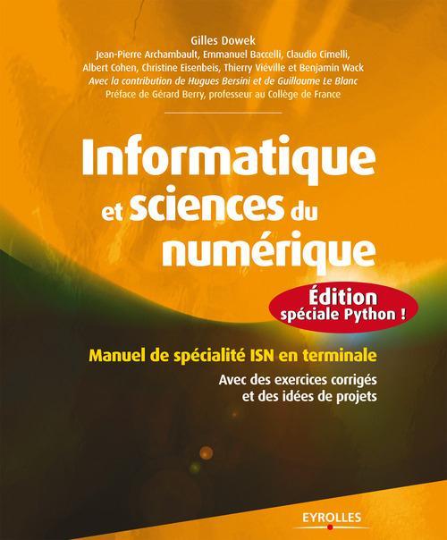 Informatique et sciences du numérique ; édition spéciale Python !