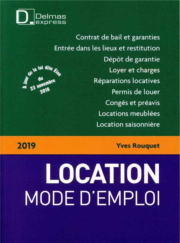 Location mode d'emploi (édition 2019)