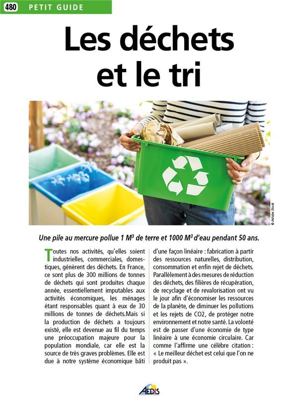 Les déchets et le tri