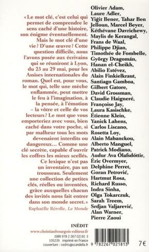 Lexique nomade ; assises du roman 2011 ; Le Monde Villa Gillet