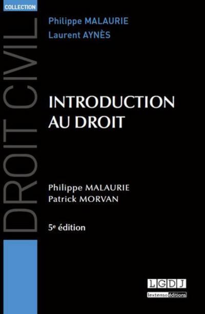Introduction au droit (5e édition)