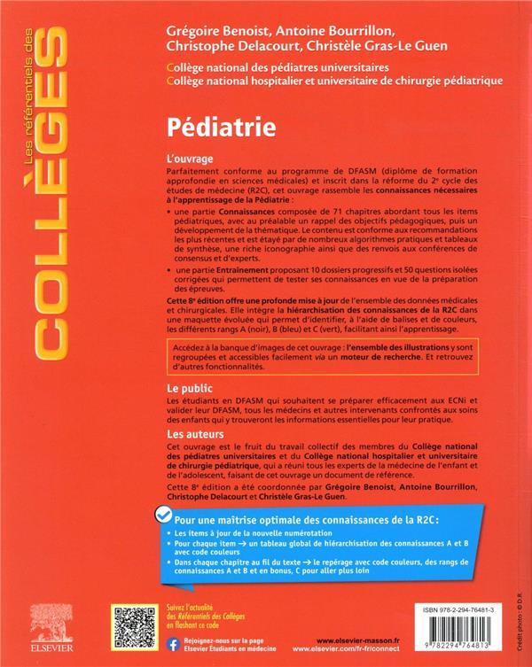Pédiatrie : réussir son DFASM ; les connaissances clés médicales et chirurgicales + entraînements corrigés (8e édition)