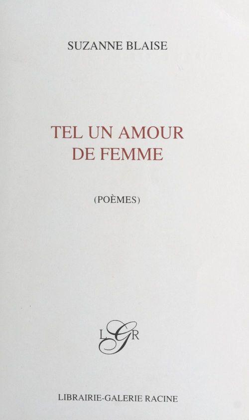 Tel un amour de femme