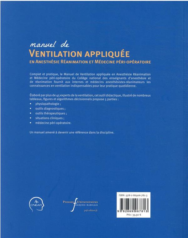Ventilation appliquée en anesthésie-réanimation et médecine péri-opératoire