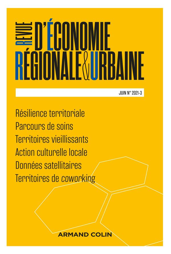 Revue d'économie régionale et urbaine n.2021-3 ; varia