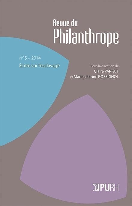 Revue du philanthrope t.5 ; écrire sur l'esclavage