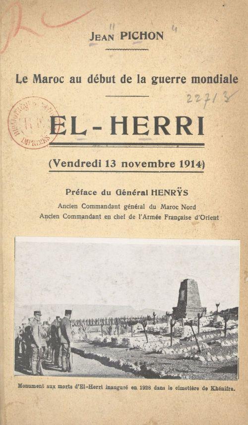 Le Maroc au début de la Guerre mondiale