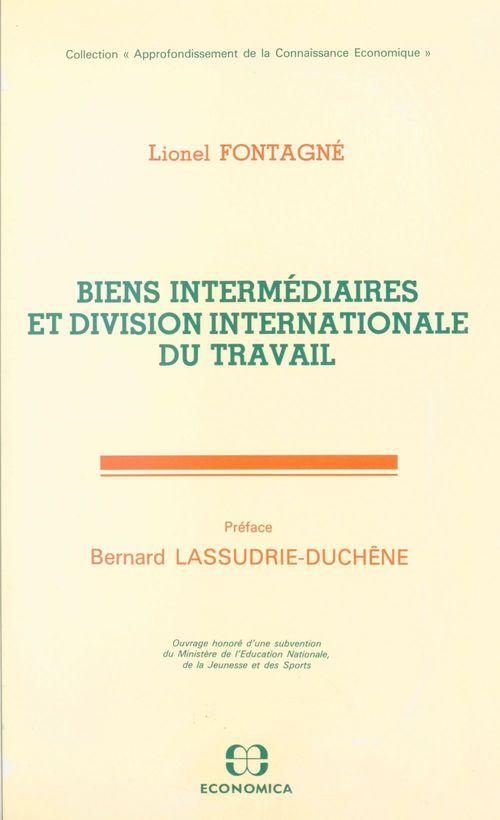 Biens intermediaires et division internationale du travail