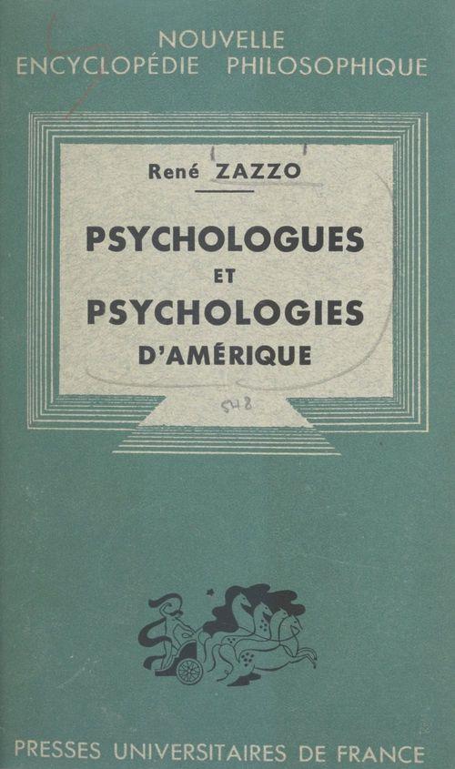 Psychologues et psychologies d'Amérique