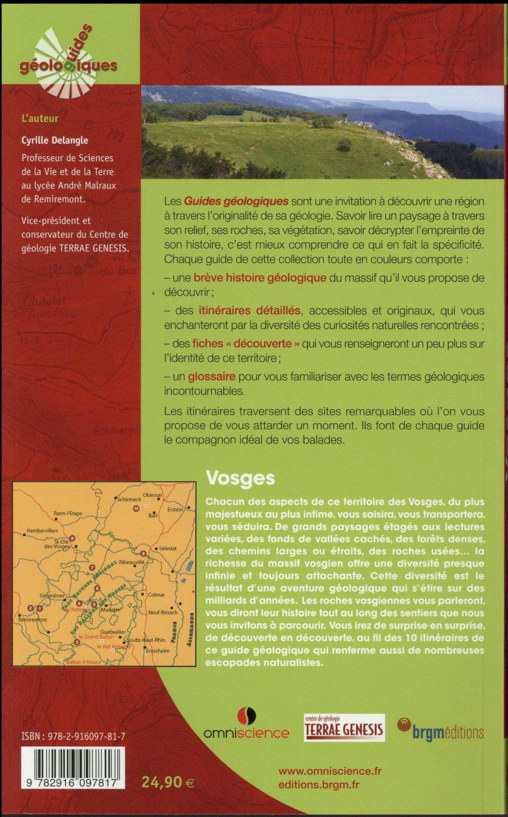 Vosges ; 10 itinéraires de randonnée détaillés ; 10 fiches découvertes