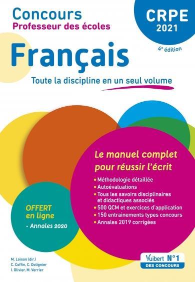 CPRE ; concours professeur des écoles français ; le manuel complet pour réussir (édition 2021)