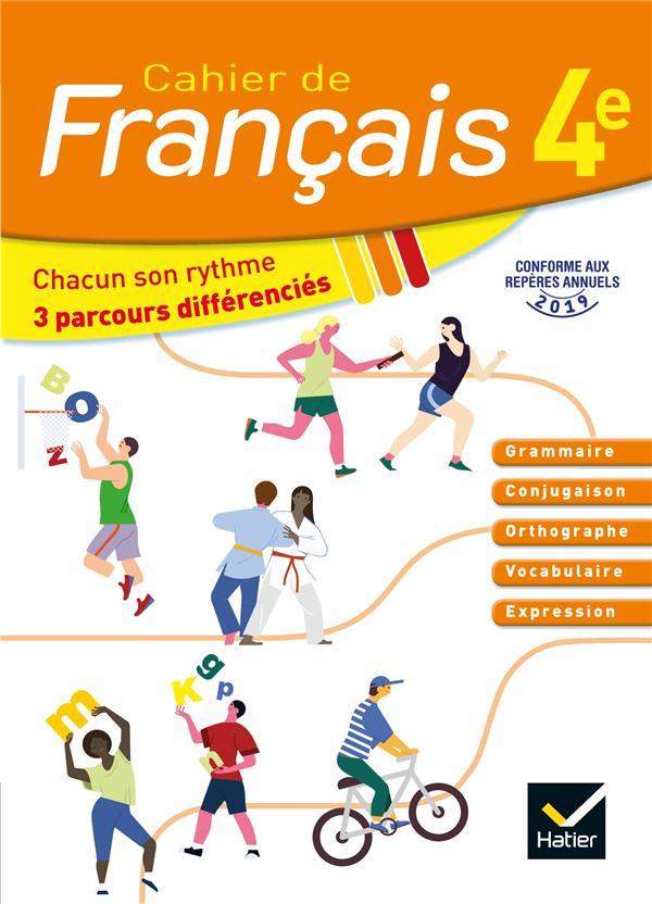 Cahier de français ; 4e ; cahier de l'élève (édition 2020)