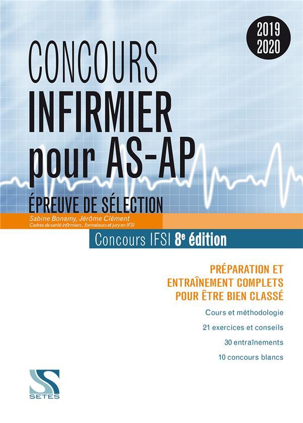 Concours infirmier pour AS-AP ; épreuve de sélection (concours 2019/2020)