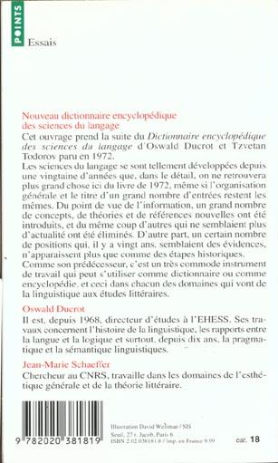 nouveau dictionnaire des sciences du langage