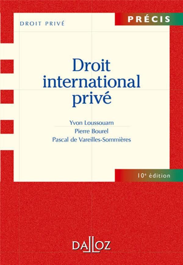 Droit international privé (10e édition)