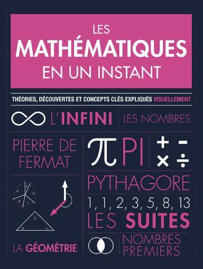 les mathématiques en un instant ; théories, découvertes et concepts clés expliqués visuellement
