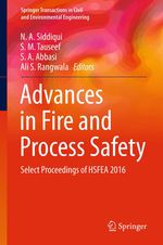 Advances in Fire and Process Safety  - N. A. Siddiqui - S. M. Tauseef - S. A. Abbasi - Ali S. Rangwala