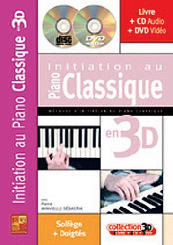 Initiation au piano classique en 3D ; solfège + doigtés