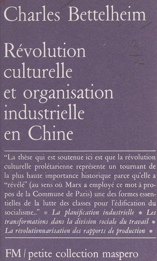 Révolution culturelle et organisation industrielle en Chine