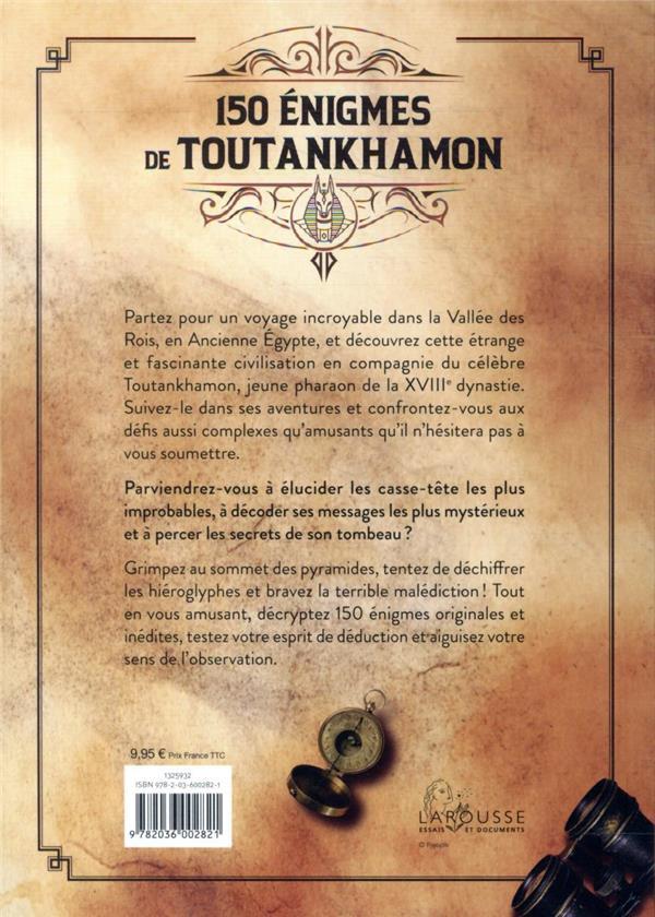 150 énigmes de Toutankhamon