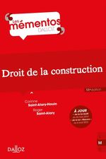 Vente Livre Numérique : Droit de la construction  - Roger Saint-Alary - Corinne Saint-Alary-Houin