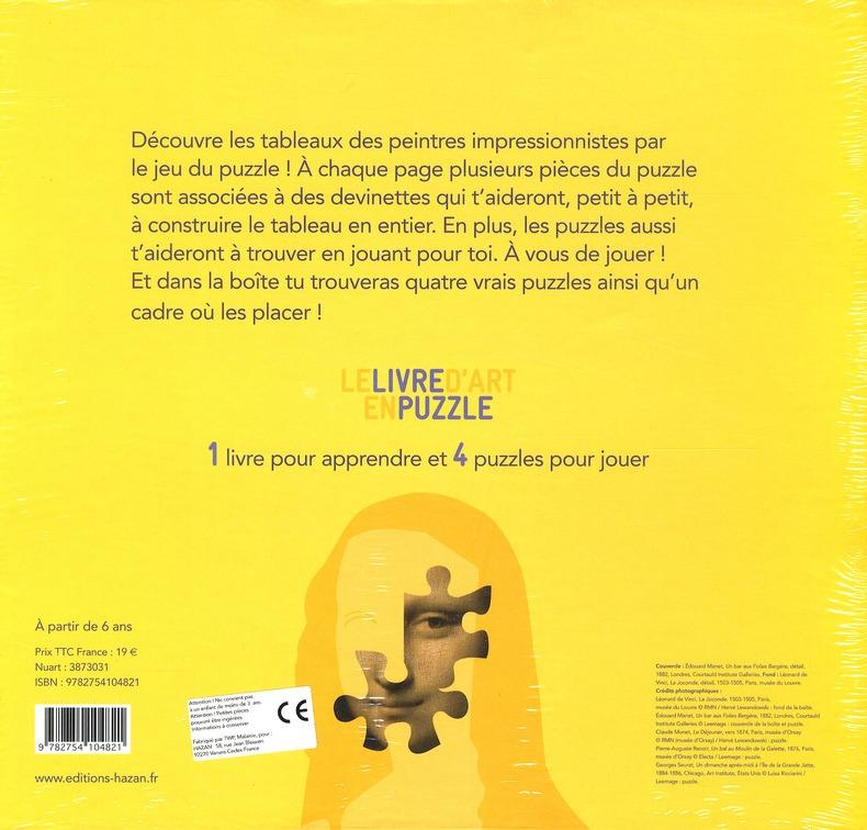 Livre d'art en puzzle ; l'Impressionisme